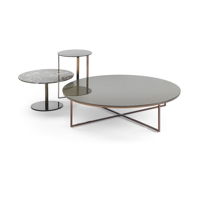 porto round glass coffee table