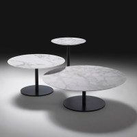 Opera Round Marble Coffee Table, Contemporary