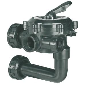"""Valvola selettrice laterale 1 1/2"""" con collegamento a filtro - Flat-0"""