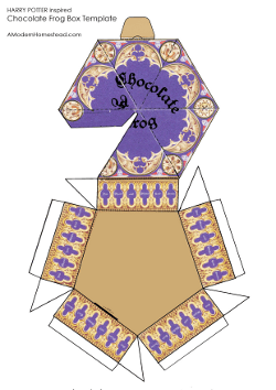 photo about Chocolate Frog Printable called √ Harry Potter Sweet Box Templates Harry Potter