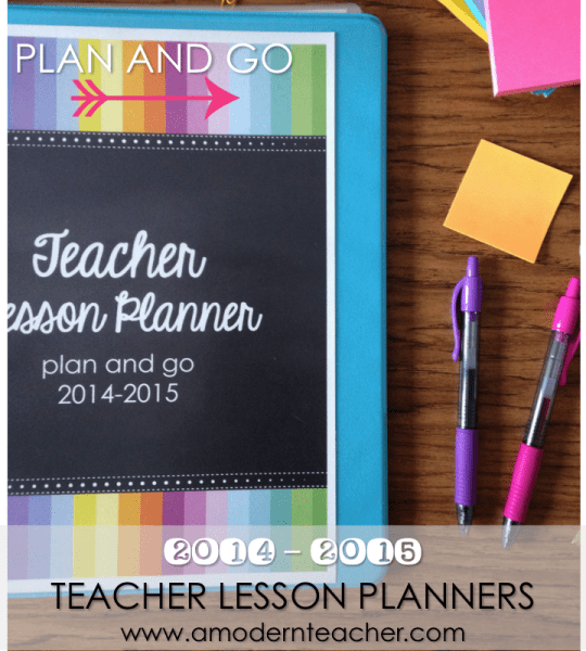 Teacher Lesson Planners www.amodernteacher.com