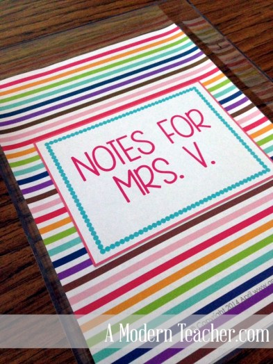 DIY Acrylic Teacher Note Tray www.amodernteacher.com