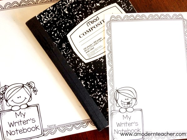 writer's notebook cover freebie