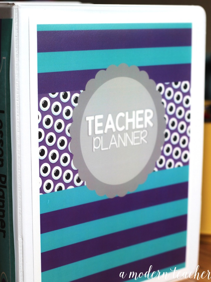 a modern teacher binder planner organizer