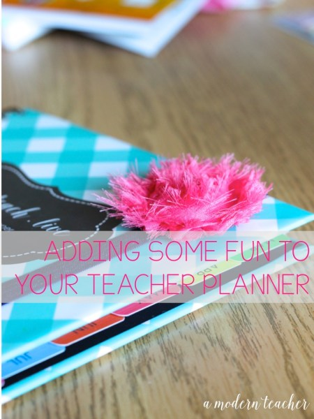 A Modern Teacher Planner Stretchy Bands