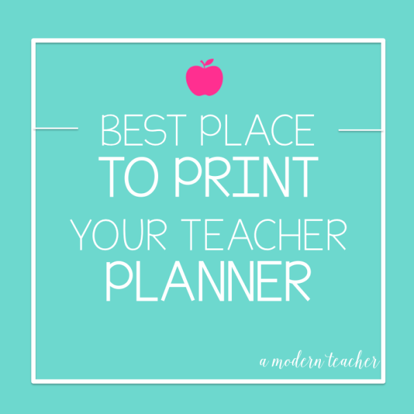 Best Place to print your teacher planner