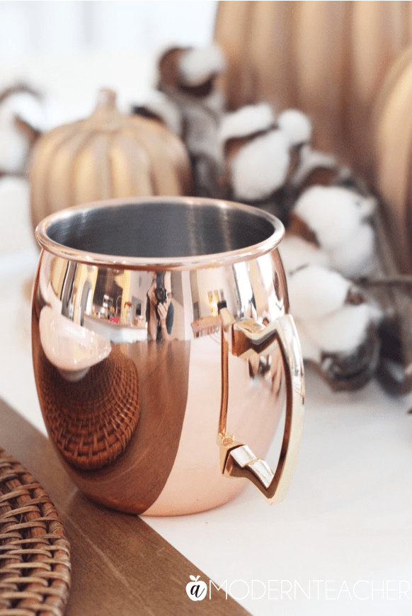 Decorating with Copper and Cotton