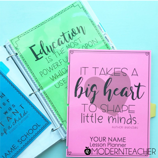 5 Ways to Use Color in Your Teacher Binders (and a HUGE Colorize Your Classroom Contest)