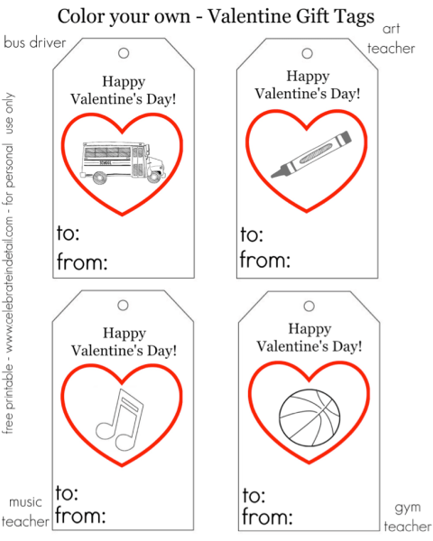 Valentines Printable Gift Tags
