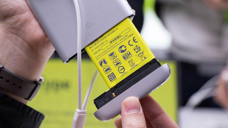 smartphone lg g5 - bateria removível