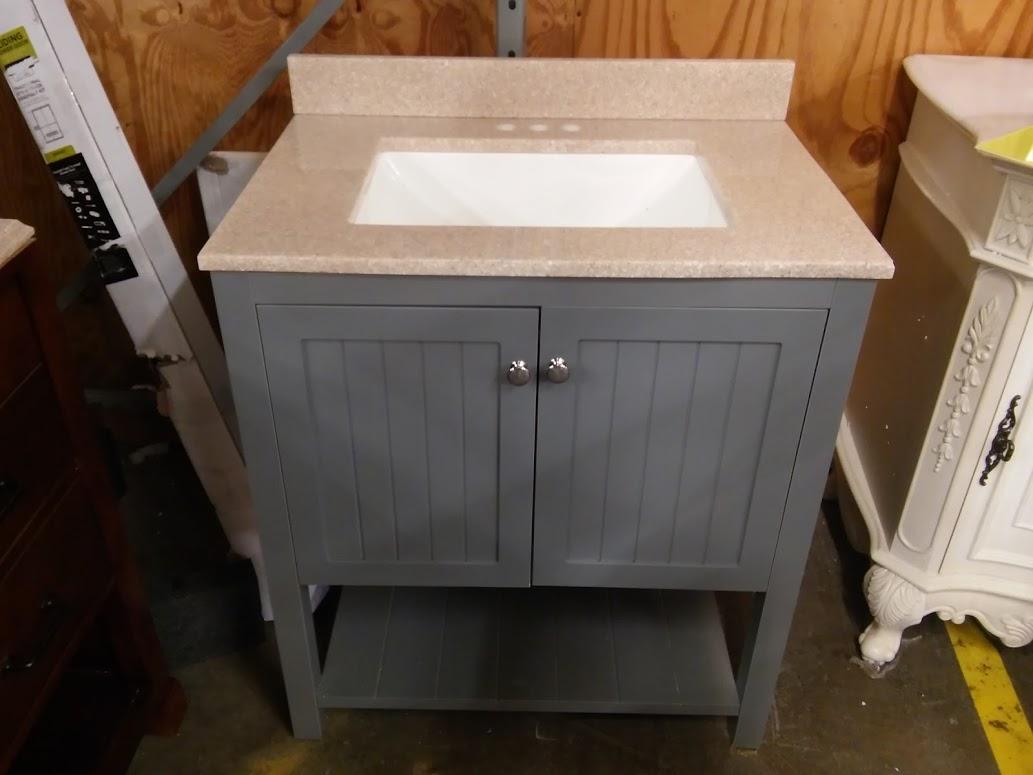 Home Decorators Collection Cranbury 30 In Vanity In Cool Gray