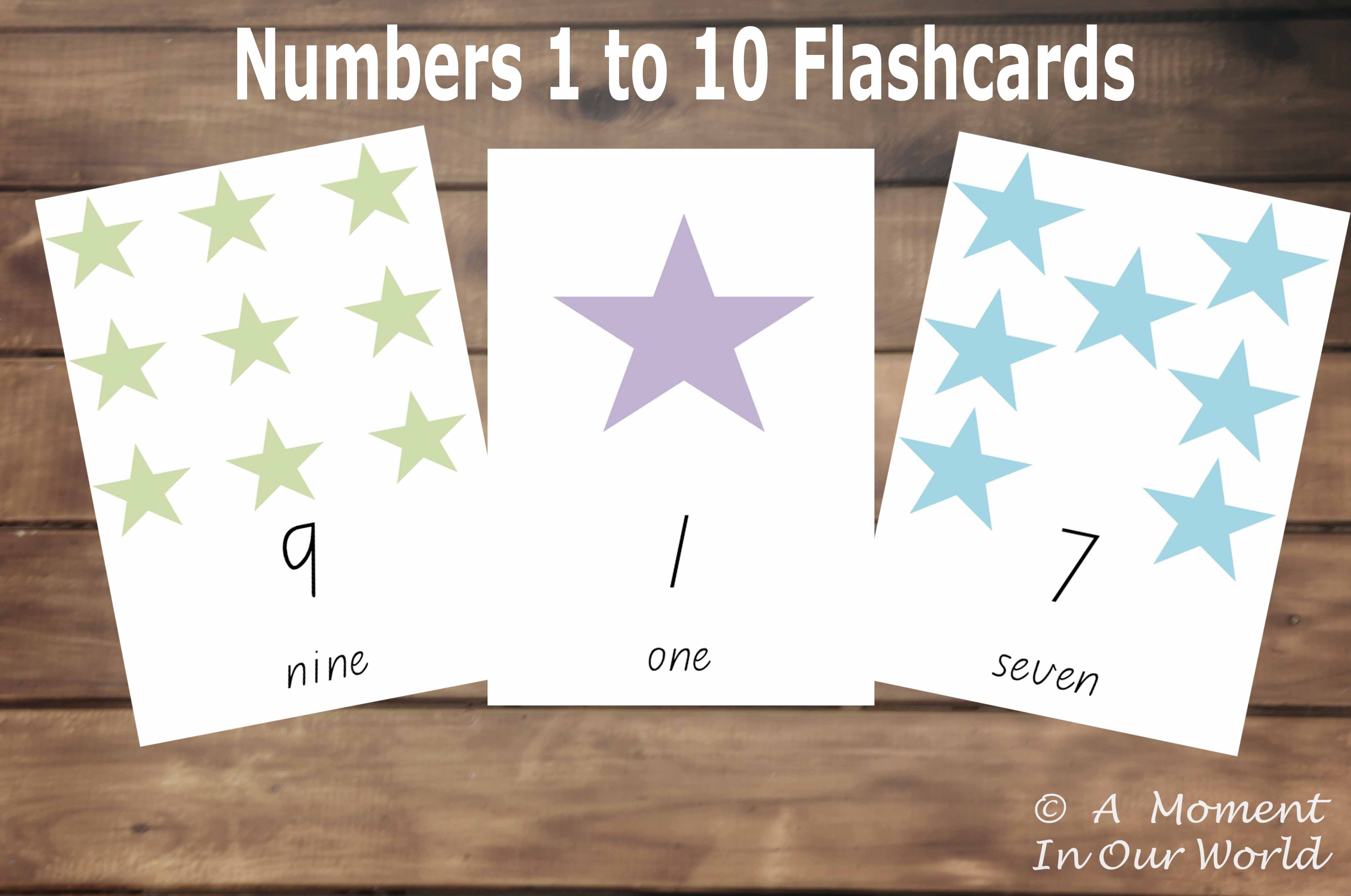 Numbers 1 10 Flashcards
