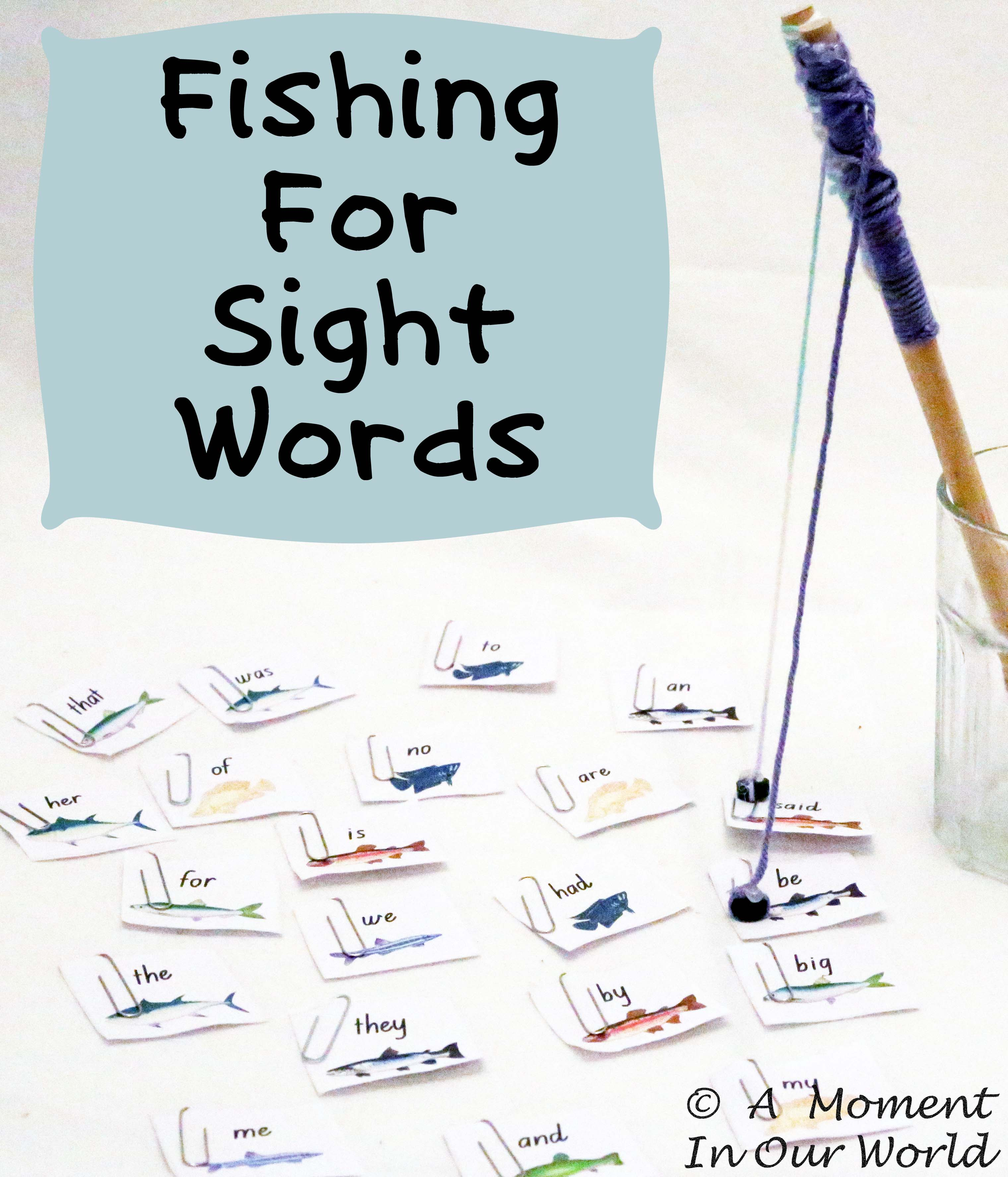 Free Printable Fishing For Sight Words Game