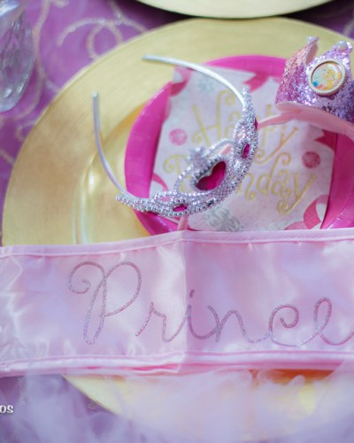 A Pink and Gold Princess Tea Party