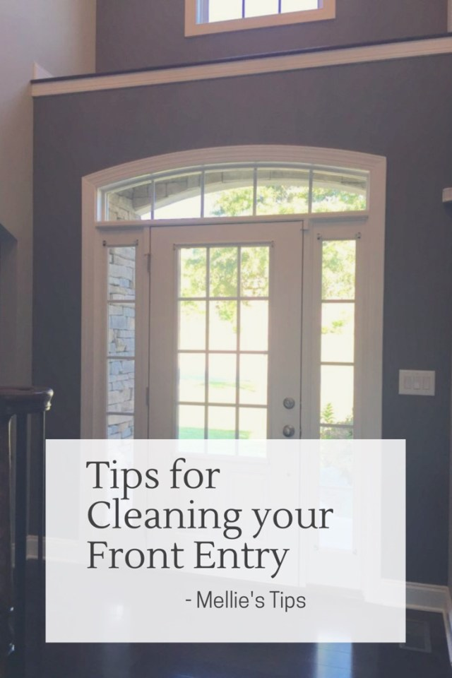 Tips for Cleaning your Front Entry
