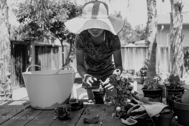 Afternoon Gardening - Lifestyle Photography