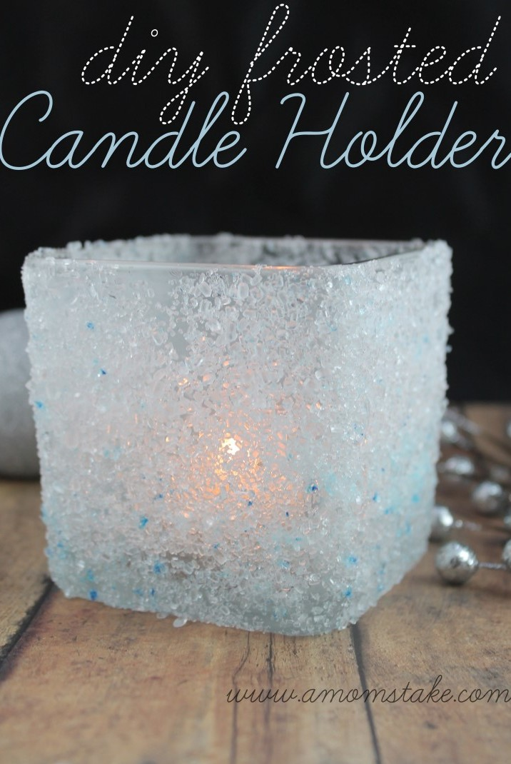 Mod Podge Candle Holder