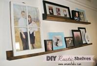 Easy DIY Rustic Shelves - A Mom's Take