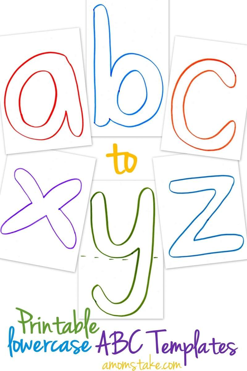 Lowercase ABC Templates Free Printable A Mom39s Take
