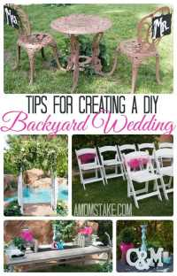 Tips for a DIY Backyard Wedding - A Mom's Take