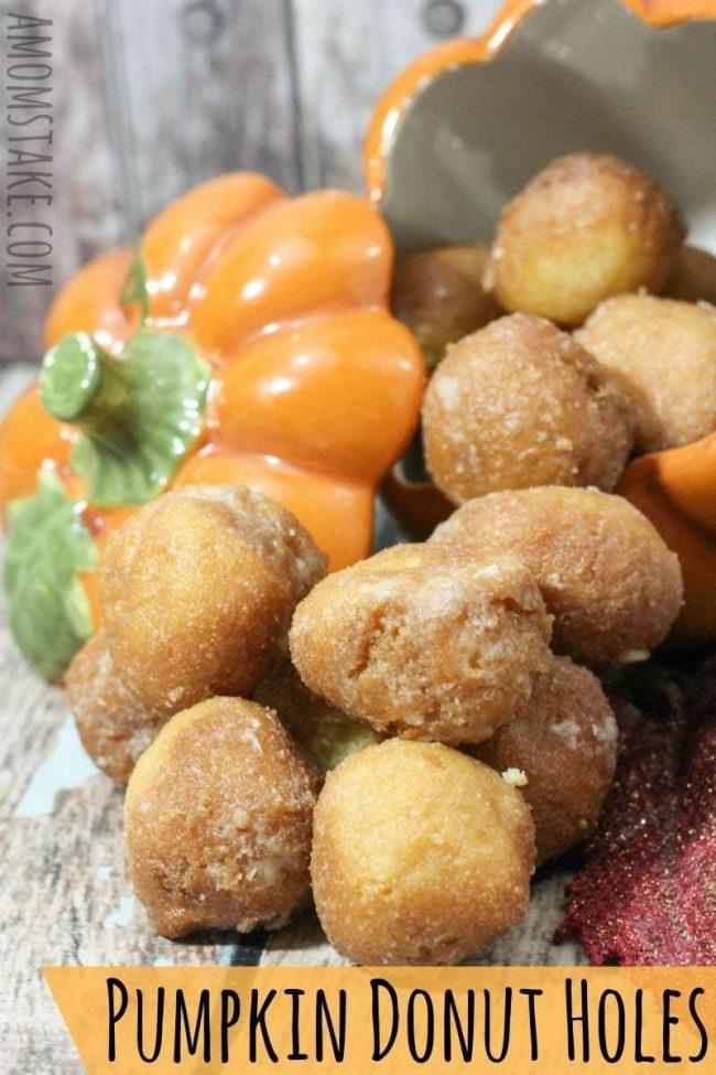 Pumpkin Donut Holes Recipe