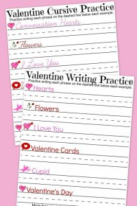 Valentine's Day Handwriting Worksheets - A Mom's Take