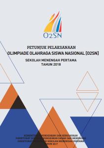 Download Juklak Olimpiade Olahraga Siswa Nasional O2SN SMP Tahun 2018