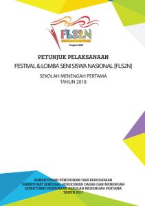 Download Petunjuk Pelaksanaan Juklak FLS2N SMP Tahun 2018