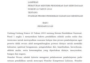 Download Permendikbud Nomor  Tentang Standar Proses Pendidikan