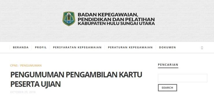 Jadwal dan Lokasi Tes Kompetensi Dasar CPNS Kabupaten Hulu Sungai Utara 2018
