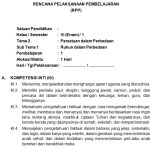 Download RPP SD Kurikulum 2013 K13 Edisi Revisi 2018 Lengkap