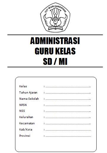 Administrasi Guru Kelas SD Kurikulum 2013 Revisi... - dicariguru.com