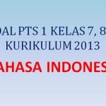 Soal Penilaian Tengah Semester PTS 1 Bahasa Indonesia Kelas 7 8 9 K13