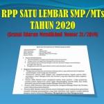 Contoh RPP Satu Lembar PKN SMP MTs Tahun 2020