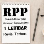 Download Contoh RPP Satu Lembar Kelas 3 SD MI Tahun 2020