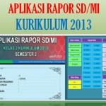 Aplikasi Rapor Kelas 5 SD MI Semester 2 Kurikulum 2013 Tahun 2021