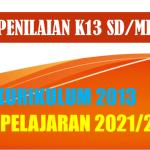Format Penilaian Kurikulum 2013 K13 Kelas 6 SD MI Tahun 2021