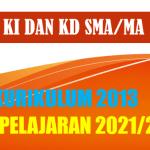 KI dan KD Bahasa Inggris SMA MA K13 Tahun Pelajaran 2021/2022