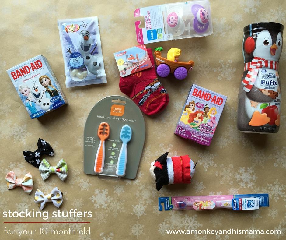 stocking stuffer ideas for your 10 month old // www.amonkeyandhismama.com