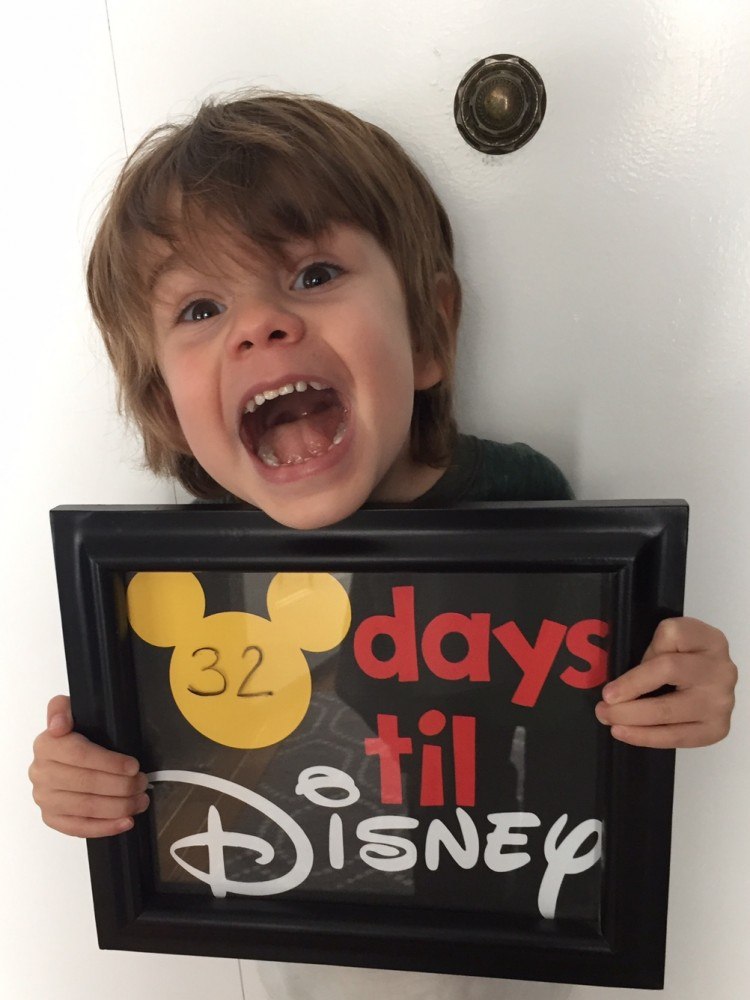 DIY toddler approved countdown to disney // a monkey and his mama
