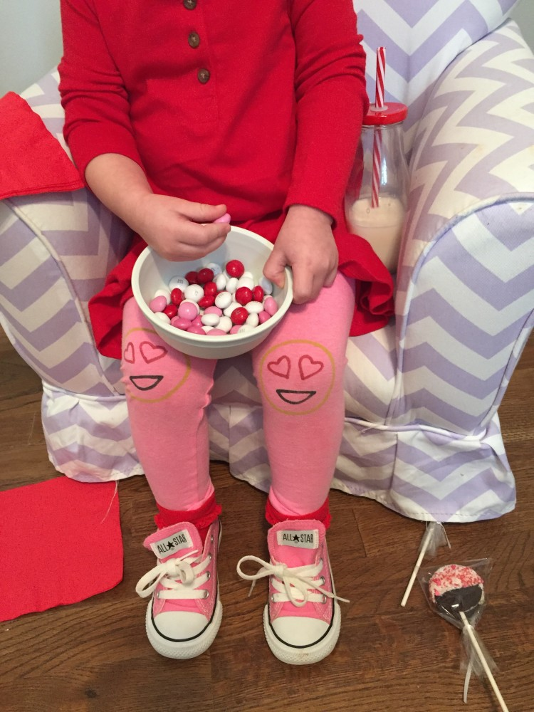my tiny valentine. leggings by kickin' legs. // a monkey and his mama