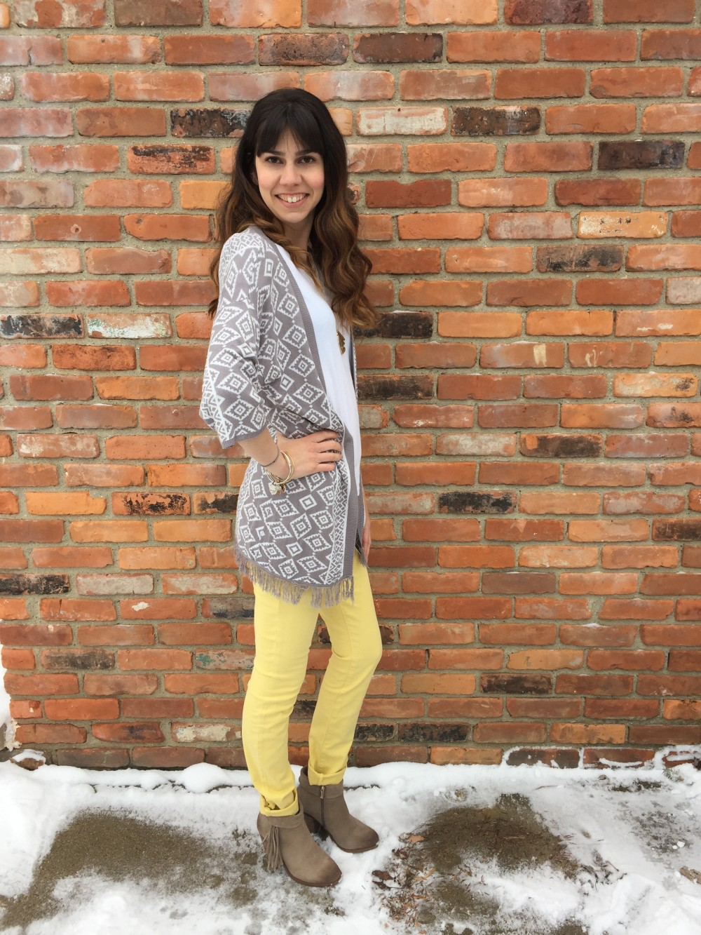 Yellow Straight Leg Jeans by Level 99 March Stitch Fix 2016 // a monkey and his mama