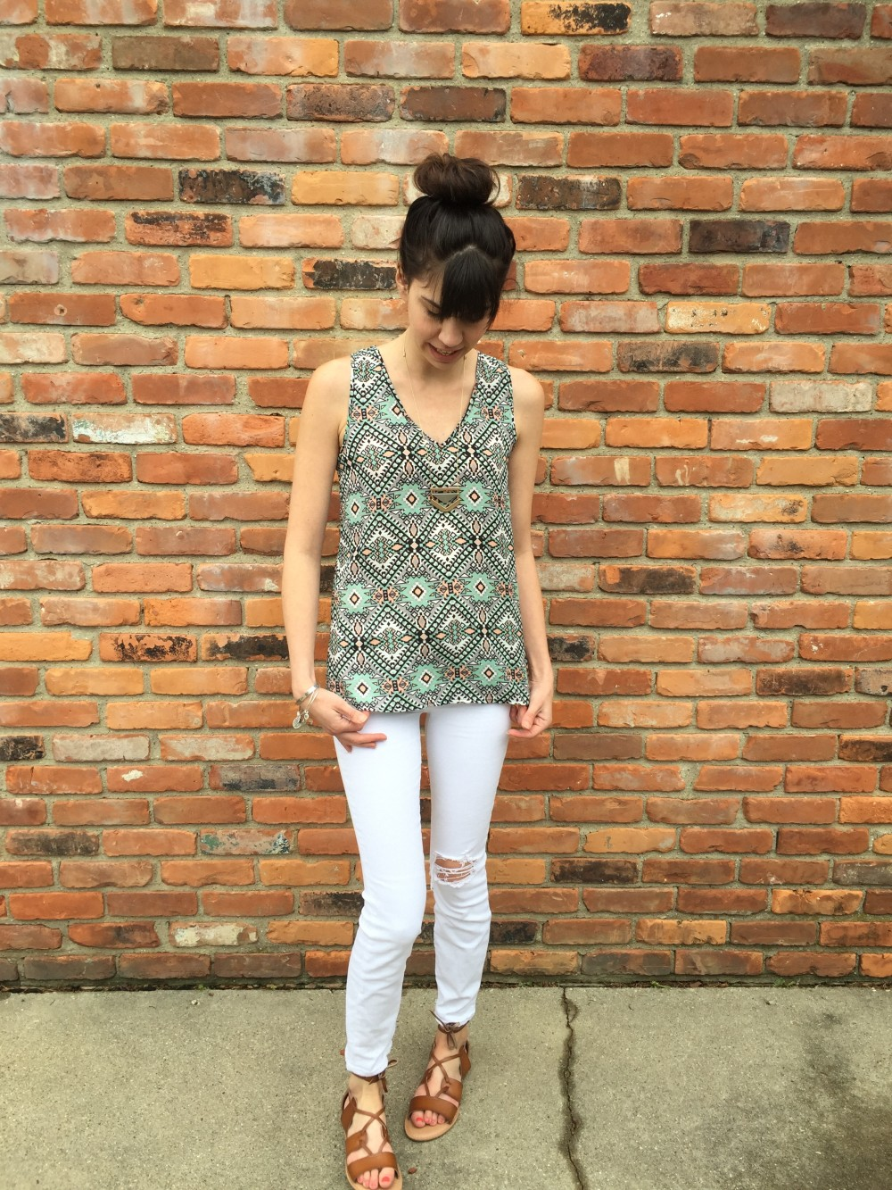 bosely v neck blouse, fun2fun, from my may 2016 stitch fix // a monkey and his mama