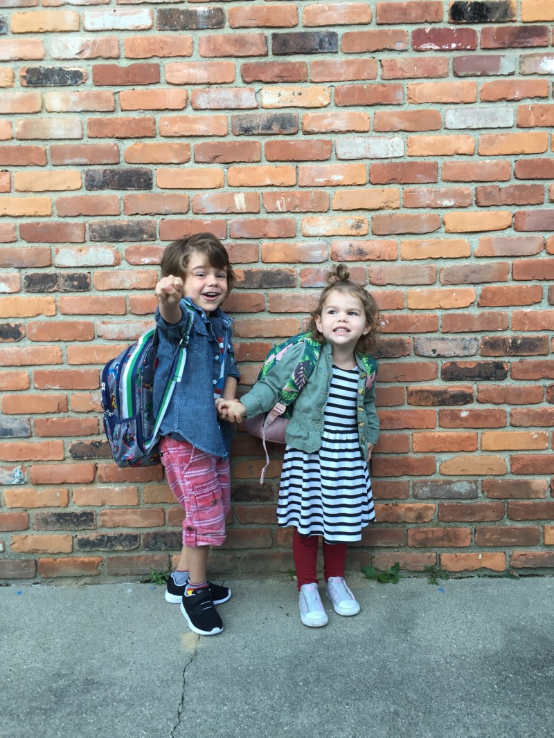 first day of preschool style \\ a monkey and his mama