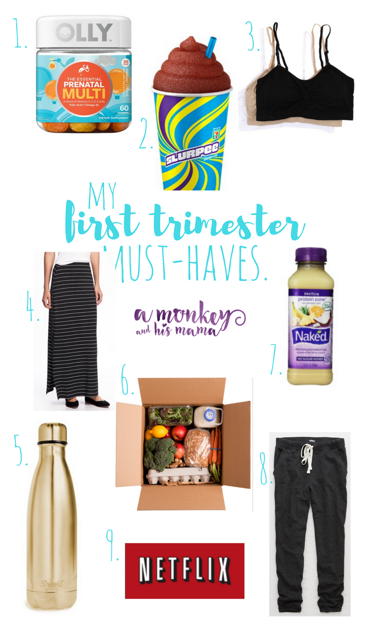 my first trimester must-haves // a monkey and his mama