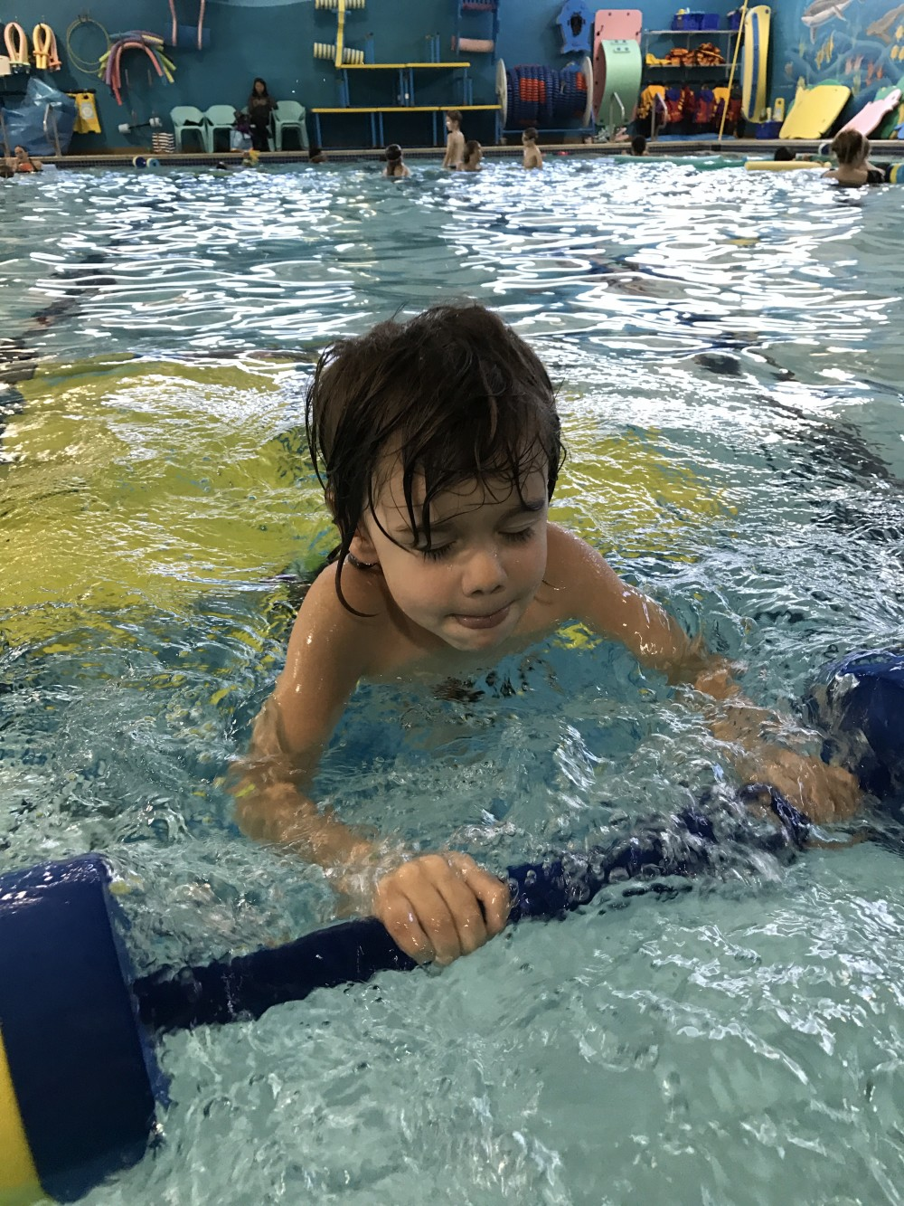 goldfish swim school review // a monkey and his mama