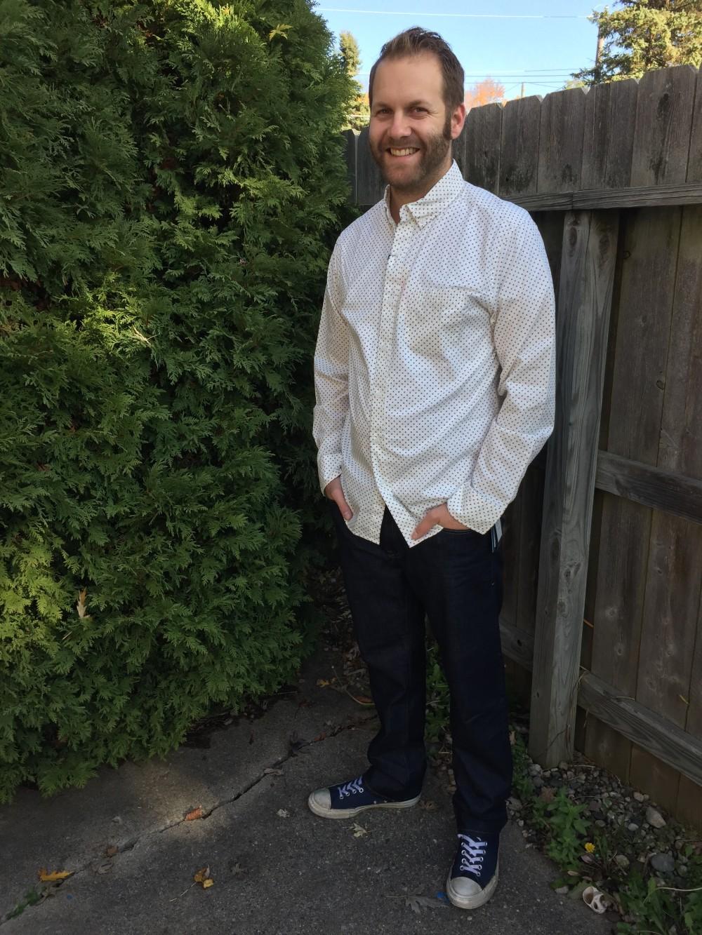 stitch fix men // essential wash long sleeve shirt, hawker rye // a monkey and his mama
