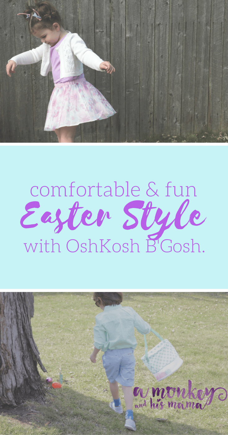 Comfortable and Fun Easter Style for Kids with OshKosh B'Gosh // a monkey and his mama// #ad