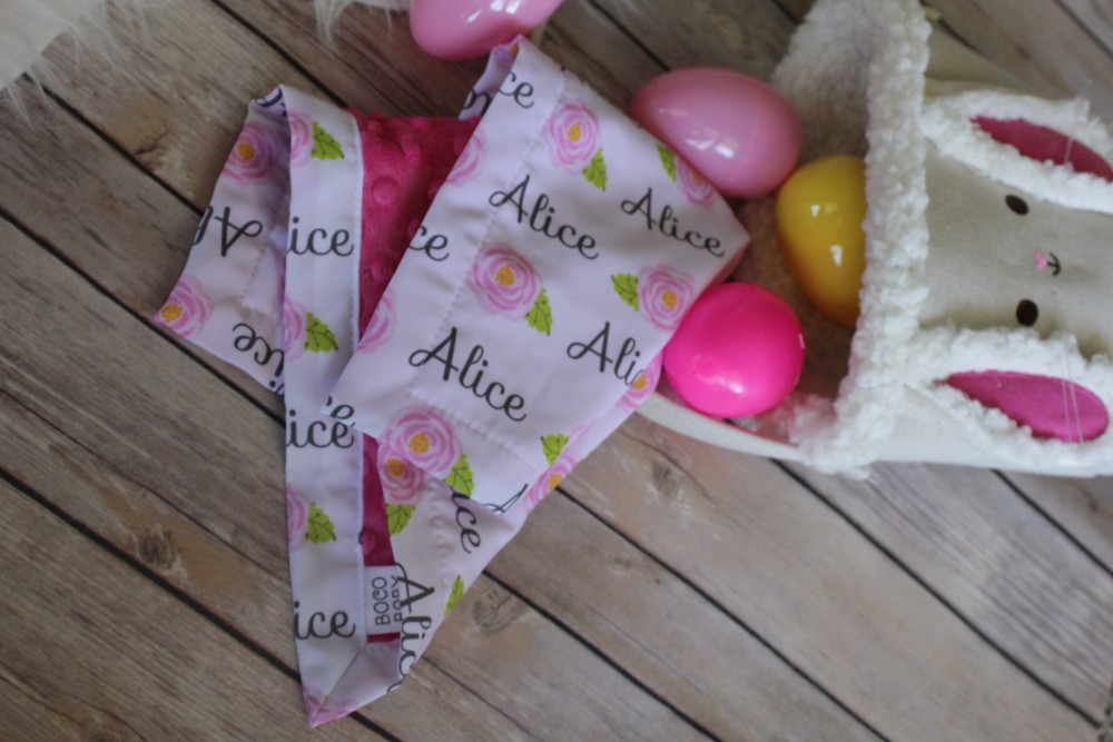 personalized easter basket idea for infant