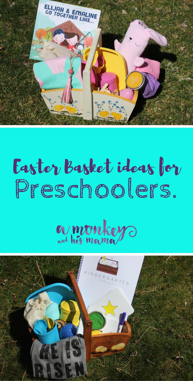 Easter basket ideas for preschoolers a monkey and his mama easter basket ideas for preschoolers negle Choice Image